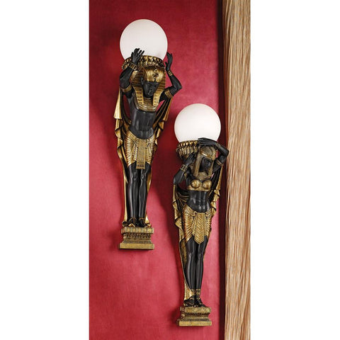 Caryatid & Telemon Egyptian Sconces - Sculptcha