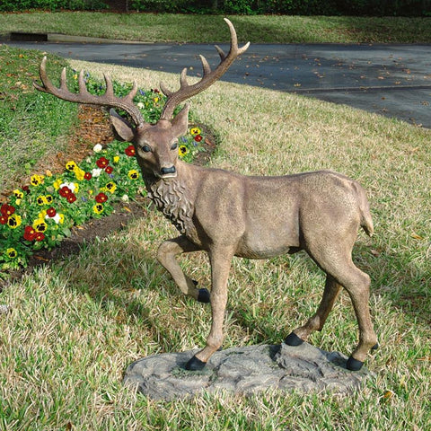 Black Forest Garden Deer Statue - Sculptcha