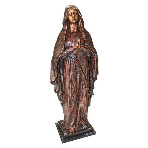 Madonna Blessed Mother Bronze Statue - Sculptcha
