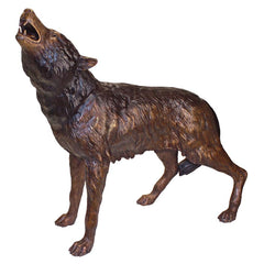 The Howl of the Wild Wolf Bronze Statue - Sculptcha