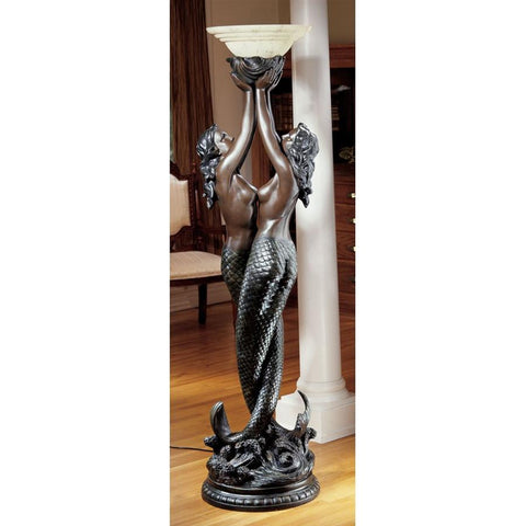 Entwined Mermaid Floor Lamp - Sculptcha