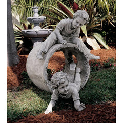 Hide and Seek Kids Statue - Sculptcha