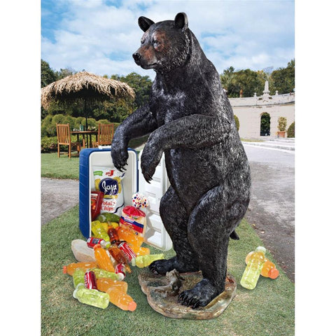 Grand Fishing For Trouble Bear Statue - Sculptcha