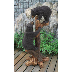 Large Climbing Cubs Black Bear Statue - Sculptcha