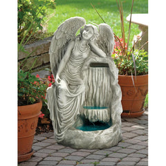 Resting Grace Angel Fountain - Sculptcha