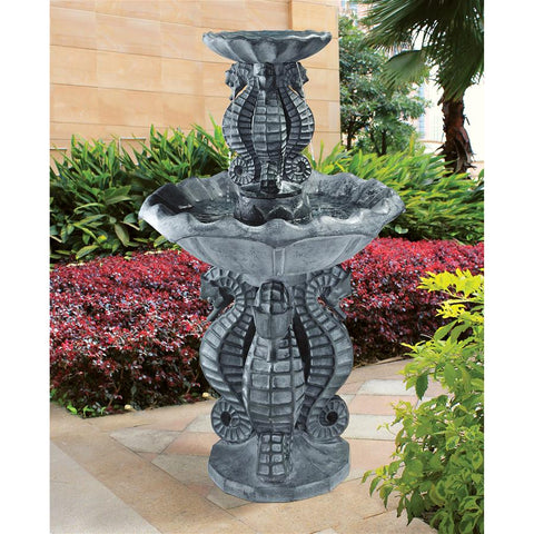 Spirt of the Ocean Seahorse Garden Fountain - Sculptcha