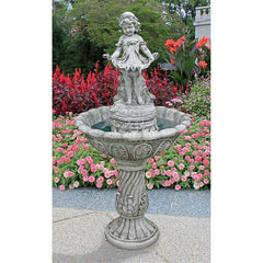Abigails Bountiful Apron Garden Fountain - Sculptcha