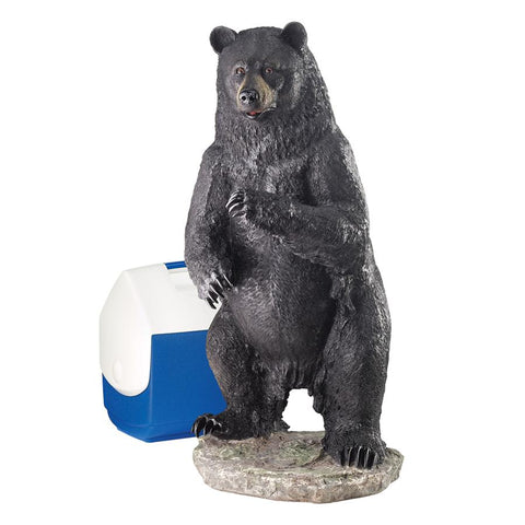 Large Fishing for Trouble Bear Statue - Sculptcha