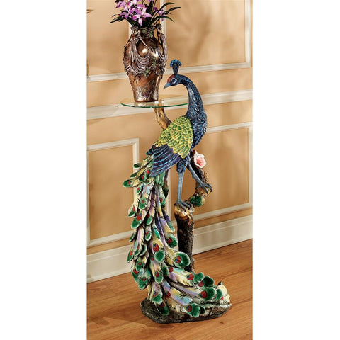 Peacocks Perch Pedestal Table - Sculptcha