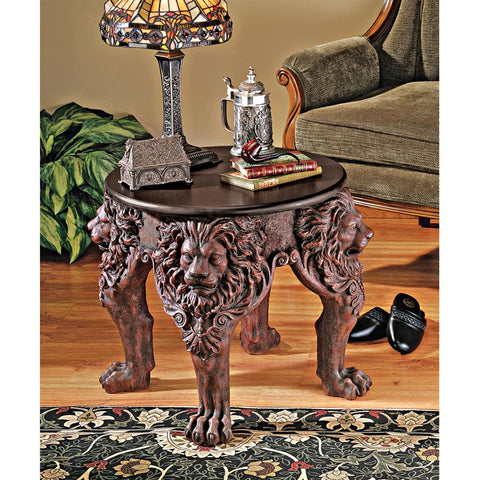 Lord Raffles Lion Leg Side Table - Sculptcha