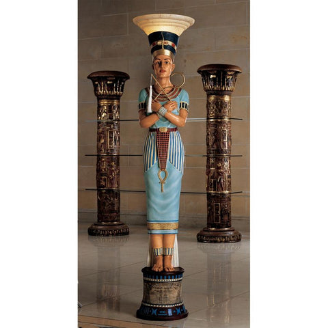 Queen Nefertiti Egyptian Floor Lamp - Sculptcha
