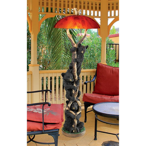 Setting Sun Black Bear Floor Lamp - Sculptcha