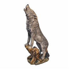 Large Howling Lone Wolf Garden Statue - Sculptcha