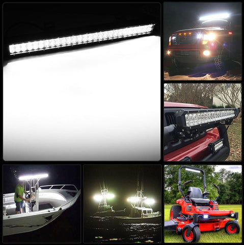 "LED Light Bar 25"" Spot & Flood Combo Beam Offroad Driving Light and 4"" Cube Pods Fog Lights for ATV UTV SUV OFFROAD Jeep Polaris Ford Ranger - Sculptcha"