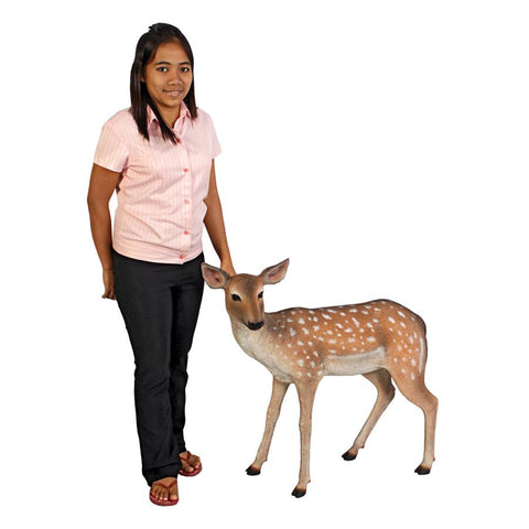 Spotted Deer Fawn Statue - Sculptcha