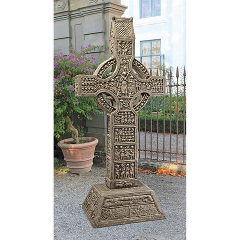 Muiredach High Celtic Cross Grand Scale Statue - Sculptcha