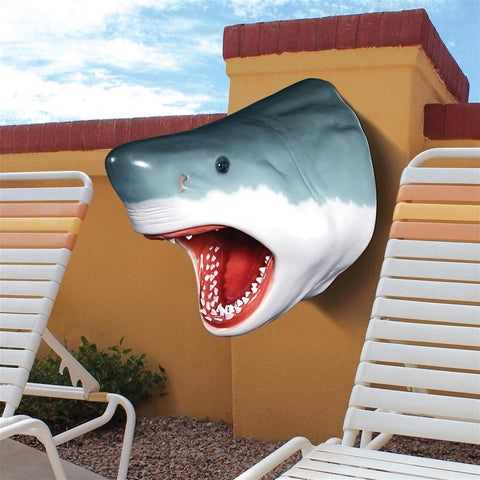 Great White Shark Head Trophy Wall Sculpture - Sculptcha