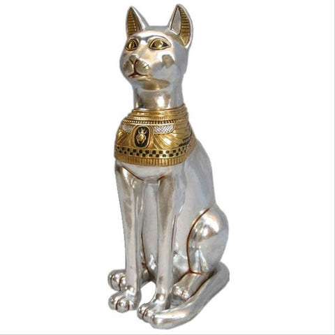 Grand Egyptian Cat Goddess Bastet Statue - Sculptcha