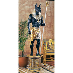 Egyptian Grand Ruler Anubis Statue with Mount - Sculptcha