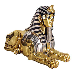Grand Gilded Egyptian Sphinx - Sculptcha