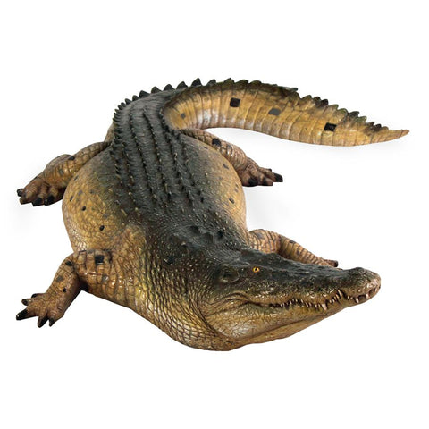 Tropical Wetlands Crocodile Statue - Sculptcha