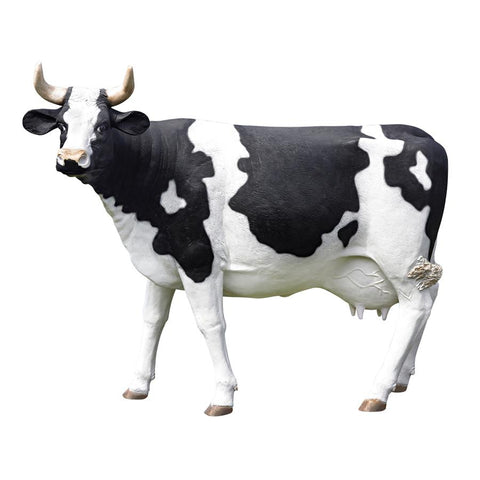 Grand Scale Holstein Cow Statue - Sculptcha