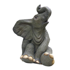 Sitting Baby Elephant Statue - Sculptcha