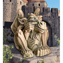 Giant Feast on Fools Gargoyle Statue - Sculptcha