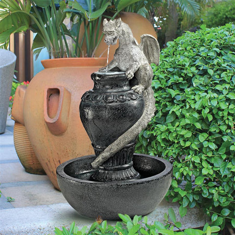 Viper Dragon And Celtic Spring Fountain - Sculptcha