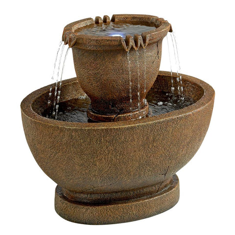 Grand Richardson Oval Urns Garden Fountain - Sculptcha