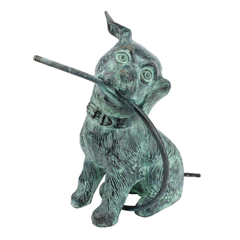Raining Dogs Piped Bronze Statue - Sculptcha