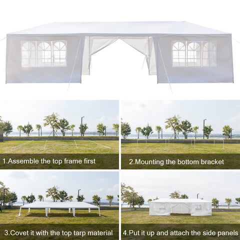 10 x 30 ft Outdoor Wedding Party Tent Camping Shelter Gazebo Canopy Pavilion