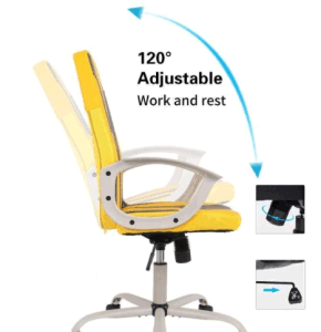 Smugchair Office Gaming Desk Chair, Computer Chair, Ergonomic Executive Chair with Armrests, Yellow - Sculptcha