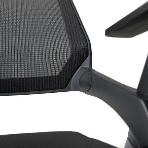 Qwork Mesh Guest Reception Nesting Chairs with Caster Wheels and Arms - Sculptcha