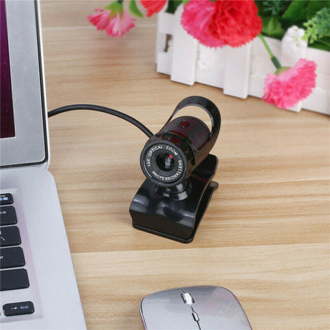 360°USB 2.0HD Webcam & Microphone Web Camera Cam For Mac, Tablet PC, Desktop, Laptop for Home and Office