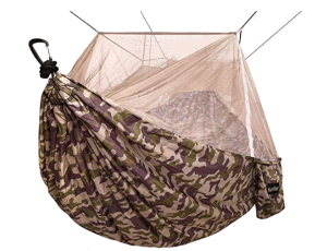 Camping Hammock with Net - Lightweight Double Portable Hammocks for Indoor, Outdoor, Hiking, Camping, Backpacking, Travel, Backyard, Beach