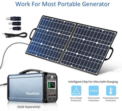 50W 18V Portable Solar Panel, Foldable Charger with Compatible with Portable Generator