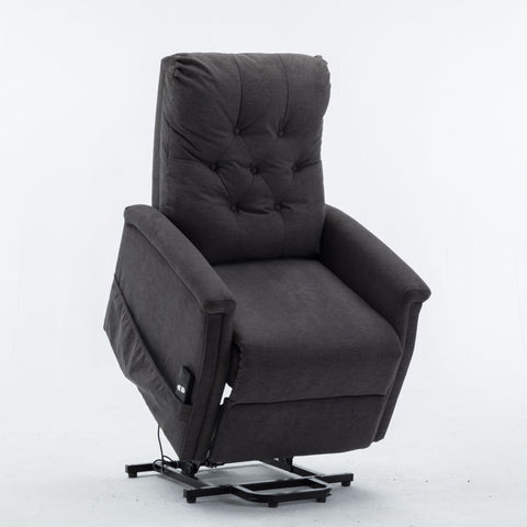Power Lift Recliner Chair Comfortable Fabric Lifting Recliner for Elderly Single Modern Sofa Chair for Living Room & Bedroom - Sculptcha