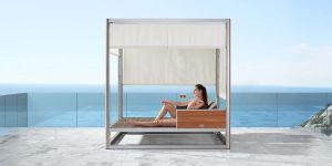 Higold Geneva Daybed, size: 216 x 180 x 220.5 cm - Sculptcha