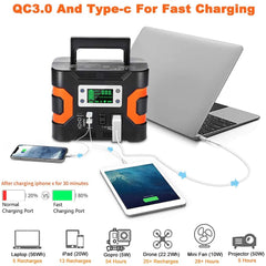 330W Portable Power Station, 81000mAh Emergency Solar Generator Backup Battery Pack Power Supply