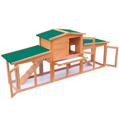 Chicken Coop Rabbit Hutch Indoor Outdoor Bunny Cage with Pull Out Tray Wood Pet House for Small Medium Animals