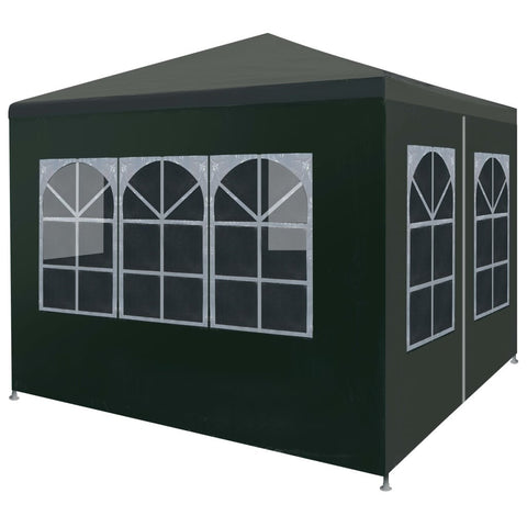Outdoor Pavilion Canopy Tent for Special Events, Parties, Wedding, Barbecue, Birthday Party with Removable Wall, Black - Sculptcha