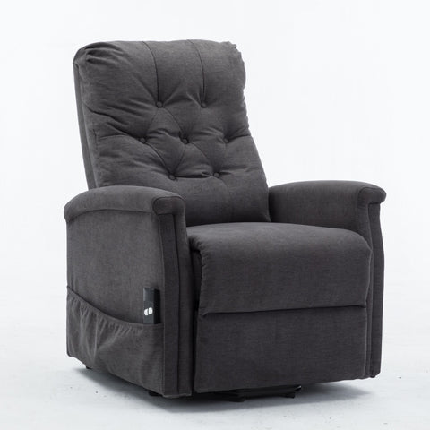 Power Lift Recliner Chair Comfortable Fabric Lifting Recliner for Elderly Single Modern Sofa Chair for Living Room & Bedroom