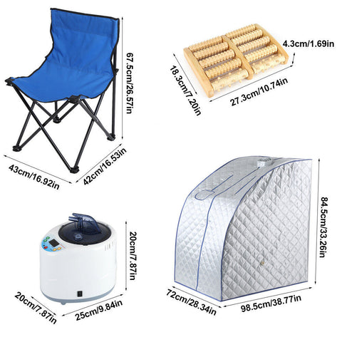 Portable Personal Therapeutic Steam Sauna SPA Slim Detox Weight Loss Home Indoor Tent - Sculptcha