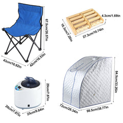 Portable Personal Therapeutic Steam Sauna SPA Slim Detox Weight Loss Home Indoor Tent