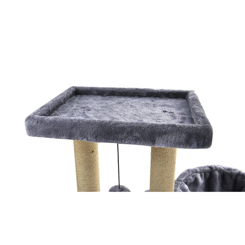 Cat Tree with Jute-Covered Scratching Posts, Cat Tower, Cat Condo, Gray