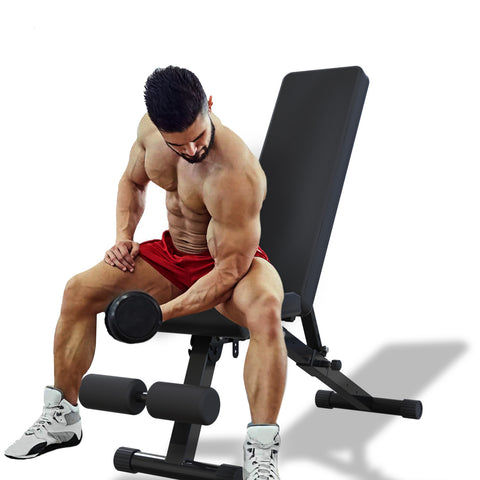 Workout Weight Bench, Adjustable Strength Training Bench for Full Body Workout with Fast Folding - Sculptcha