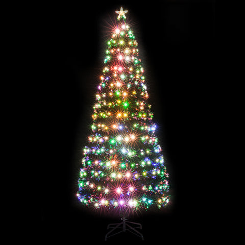 7.5FT Fiber Optic Christmas Tree with 260 LED Lamps & 260 Branches