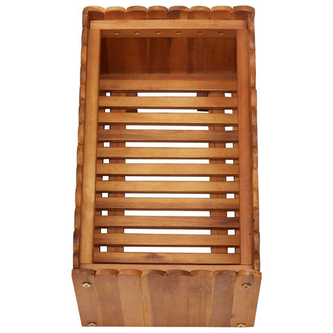 Raised Garden Bed, Wooden Elevated Planter Garden Box for Vegetable Flower Herb Acacia Wood