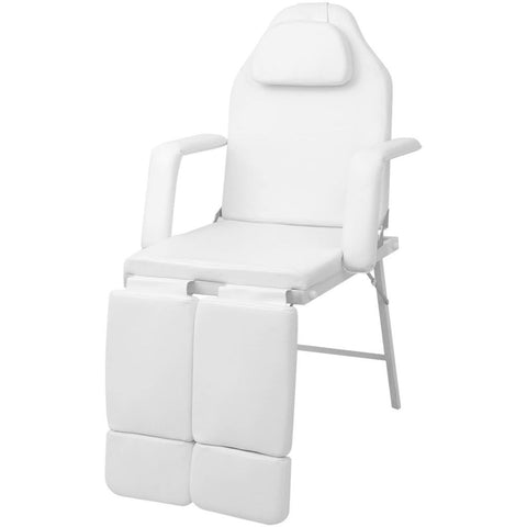 Adjustable Salon  Spa Barber Massage Beauty Bed with Hydraulic Stool Facial Acupuncture Chair  White